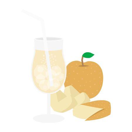 Pear Juice Illustrations