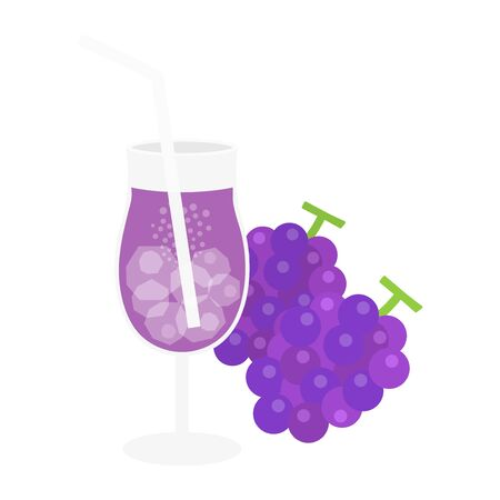 Grape Juice Illustrations