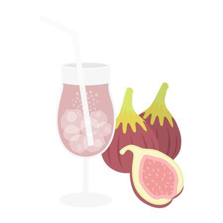 Fig Juice Illustration