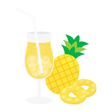 Pineapple Juice Illustrations