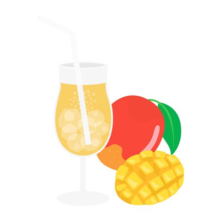 Mango Juice Illustrations
