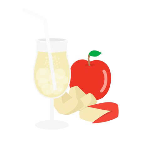 Apple Juice Illustrations