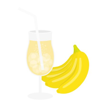 Banana Juice Illustrations