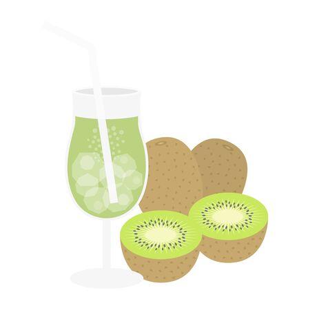 Kiwi Juice Illustrations  イラスト・ベクター素材