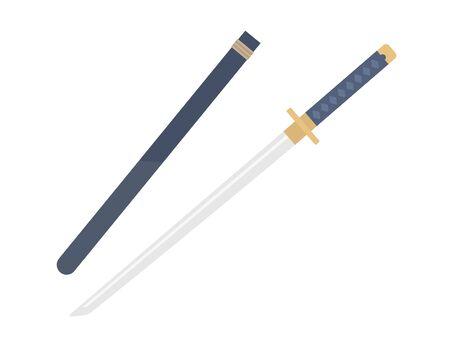 Illustration of Japanese sword
