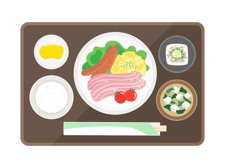 Illustration of the morning set meal