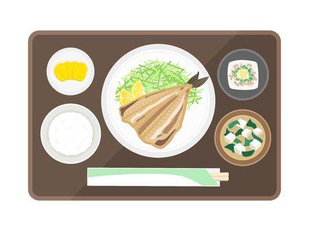 Hocke set meal illustration