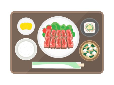 Steak Set Meal Illustration