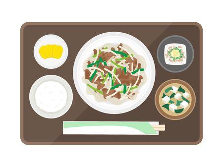 Revanilla Set Meal  イラスト・ベクター素材