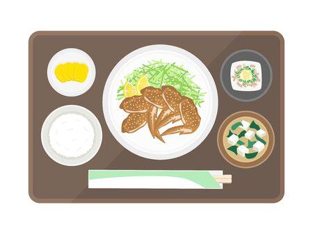 Illustration of teba set meal