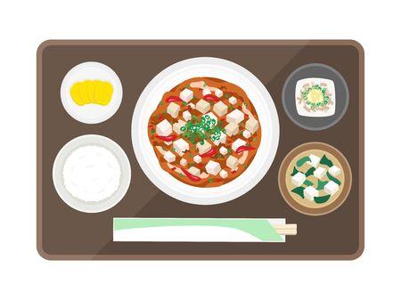 Illustration of Masochitofu Set Meal