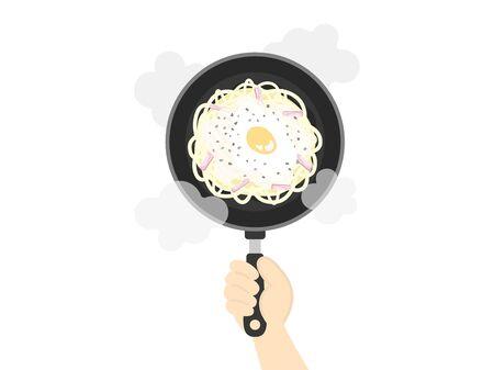 Carbonara Pasta Cooking Illustrations