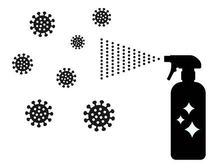 Disinfectant spray icon