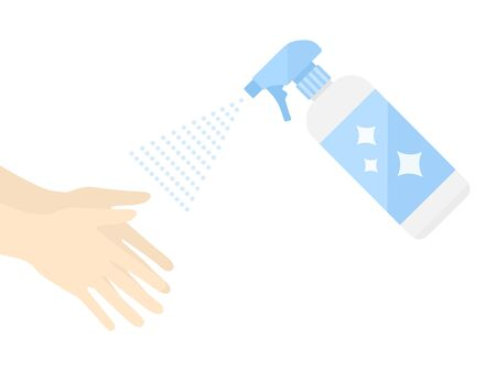 Illustration of disinfectant spray