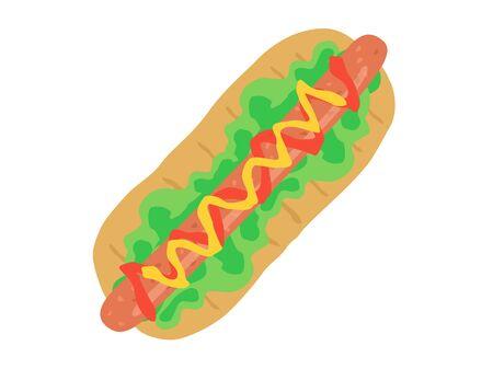 Hot Dog Illustrations Illustration