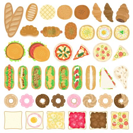Bread Illustration Set