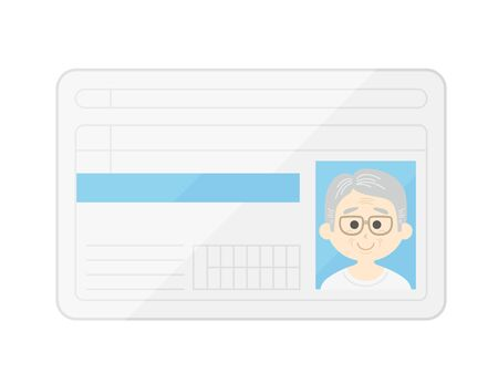 Illustration of the driver's license of an elderly man
