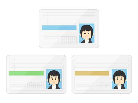 Illustration of women's licenses
