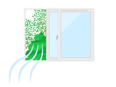 Illustration of ventilation with the window open