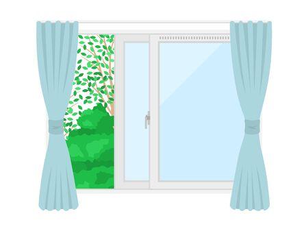 Illustration of an open window