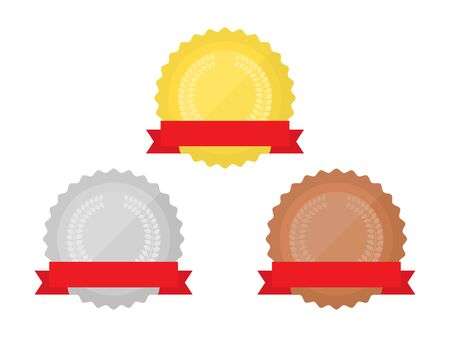 Illustration of a medal with a ribbon Vektorgrafik