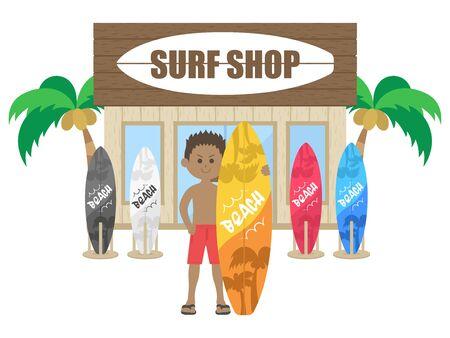 Surf Shop Illustrations