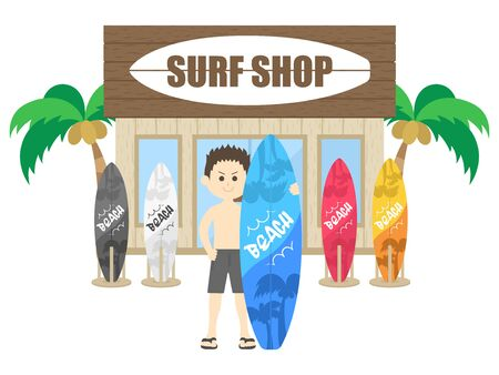 Surf Shop Illustrations