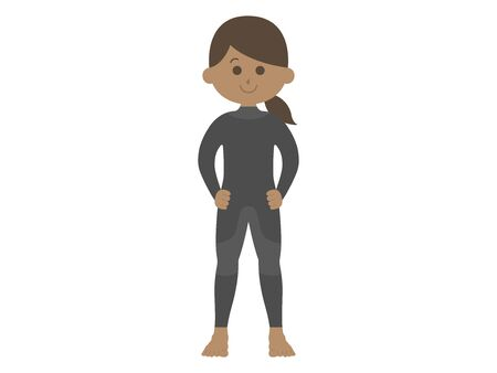 Illustration of a woman in a wetsuit