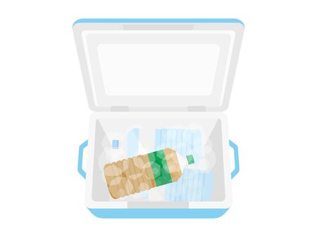 Illustration of chilled drink in cooler box