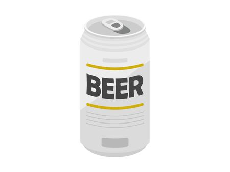 Illustration of open canned beer  イラスト・ベクター素材