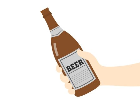 Illustration with beer bottle