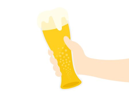 Illustration with beer glass