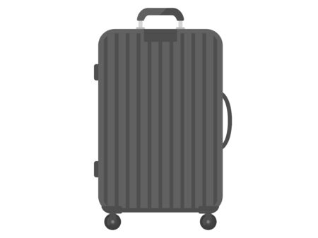 Illustration of a black suitcase