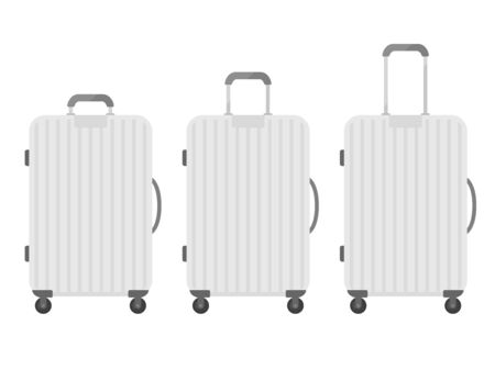Illustration of silver suitcase
