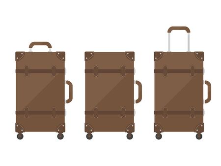 Brown suitcase illustration