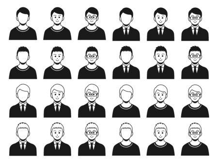 Male Icon Illustration Set Illusztráció
