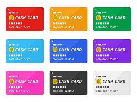 Bank Cash Card Illustration Set