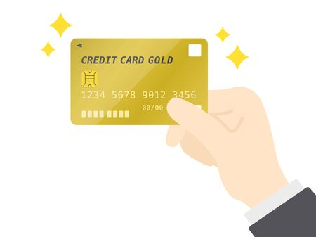 Gold Credit Card Illustrations 일러스트