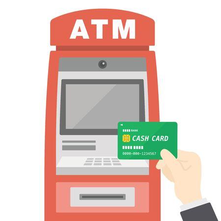 Illustration of cash machine