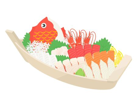 Illustration of the sashimi boat