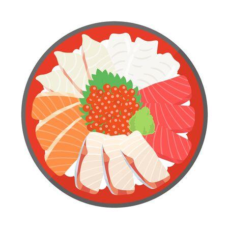 Illustration of seafood bowl