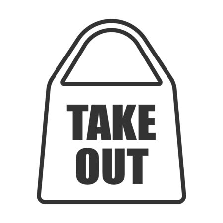 Take-out bag icon illustration Ilustração