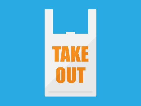 Illustration of a bag for take-out