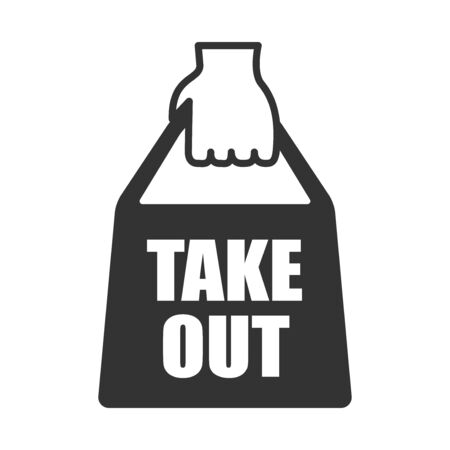 Take-out back icon illustration