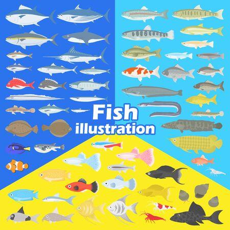 Fish Illustration Set