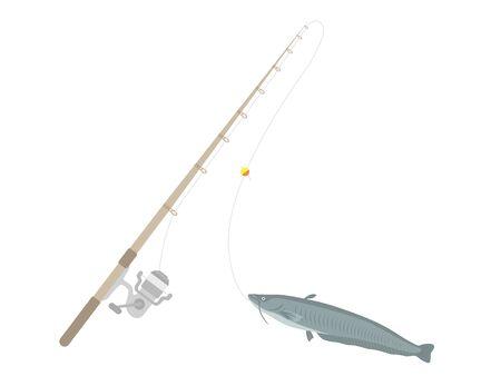 Illustration of fishing rod and beaquat
