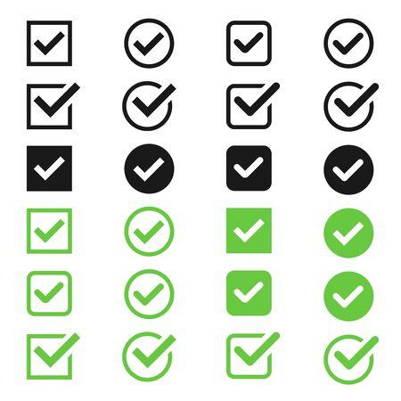 Checkbox icon set  イラスト・ベクター素材