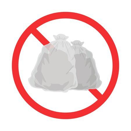 Illustration of garbage disposal prohibition mark Illustration