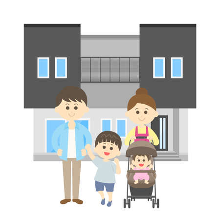 Family and My Home Illustrations Ilustrace