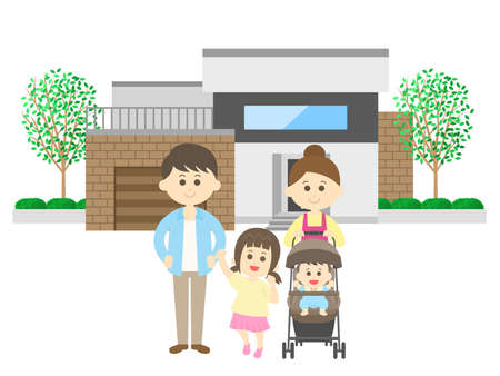 Family and My Home Illustrations